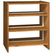 "Double Faced Wood Library Shelving - 42""H Starter, 6 Shelves"