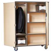 Mobile Storage Cabinet w/Doors 3 shelves and Rod