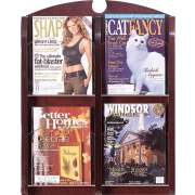 Traditional 4-Pocket Clear Face Literature Rack
