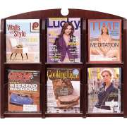 Traditional 6-Pocket Clear Face Literature Rack