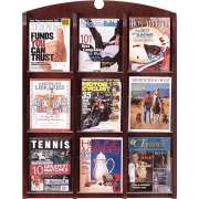 Traditional 9-Pocket Clear Face Literature Rack