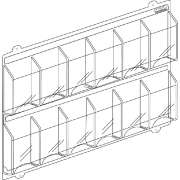 12 Magazine Display Rack 2 Rows of 6