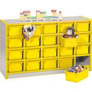 Color-Banded Preschool Cubbies w/ 20 Cubby Bins