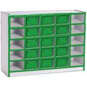 Color-Banded Youth Cubby Storage w/ 25 Cubby Bins
