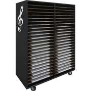 Mobile Music Folio Cabinet - 48 Shelves