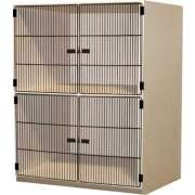 2 Equal Compartments Extra Large, Grille Doors