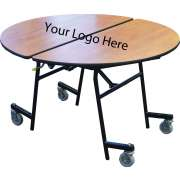 "Stow-Away Folding Round Cafeteria Table (60"" dia.)"
