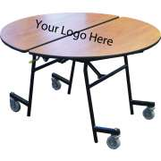"Stow-Away Folding Round Cafeteria Table (72"" dia.)"