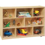 "Wooden Classroom Cubby Storage - 8 Section (48""x15""x36""H)"