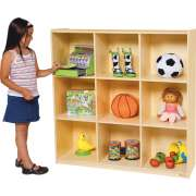 9 Cubby Wood Storage Unit