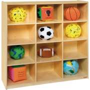 12 Cubby Wood Storage Unit