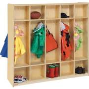 10 Section Double Sided Wood Locker