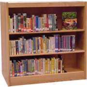 "Echelon Modular Wood Library Shelving - Starter (12""Dx42""H)"