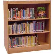"Echelon Modular Wood Library Shelving - Starter (12""Dx48""H)"