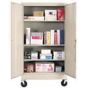 "Mobile Steel Storage Cabinet (36""Wx66""H)"
