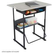"Alphabetter Sit/Stand Desk - Standard Top, Bookbox, 36""x24"""