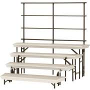 Trans-Port 4-Level Tapered Folding Choir Riser w/Back Rail