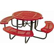 46-Inch Round Picnic Table with Perforated Surface