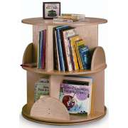 Two-Level Carousel Book Stand
