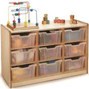 Toy Storage Cabinet - 9 Tray