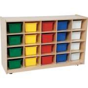 Storage Unit with 20 Assorted Trays