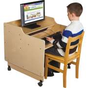 "Mobile Classroom Computer Desk (30""W, Assembled)"