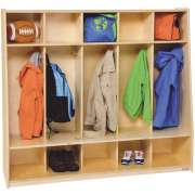 Tip-Me-Not Preschool Seat Lockers - 5-Section