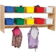 Wooden Wall Locker w/ 10 Colored Cubby Bins