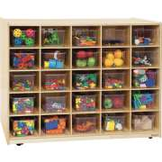 Double-Sided Cubby Storage - 25 Cubbies, 3 Shelves
