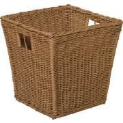 Medium Plastic Wicker Preschool Storage Baskets - Set of 4