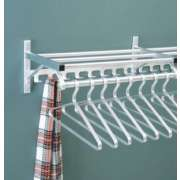 Wall Mounted Coat Rack with Hat Shelf and Hooks (4')