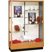 "Heritage Trophy Cabinet in Hardwood (48""Wx70""H)"