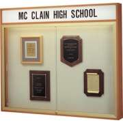 "Wall Mounted Display Case w/Header and Cork (50""Wx42""H)"