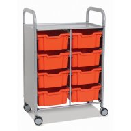 Callero Double Cart with 8 Deep trays