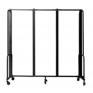 NPS® Room Divider, 3 Clear Acrylic Panels