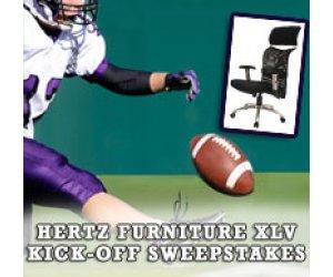 Hertz Furniture Celebrates 45 Years with the XLV Kick-Off Sweepstakes