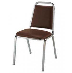 Basic Custom Vinyl Stacking Chair - Chrome Frame