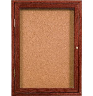 Enclosed Illuminated Cork Board - 1 Door