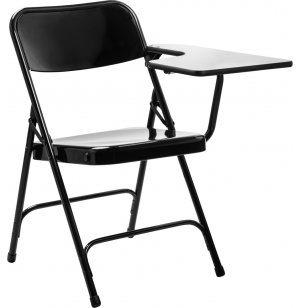 Heavy-Duty Easy Folding Tablet Arm Chair