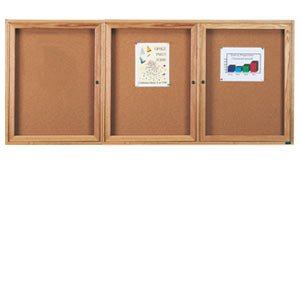 Enclosed Cork Board - 3 Door