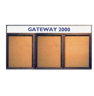 Enclosed Illumin Cork Board w/Header