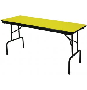 Colored School Folding Table - Pedestal Legs