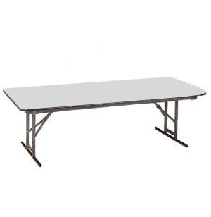 Rectangular Folding Table Laminate Top-Adjustable Ht
