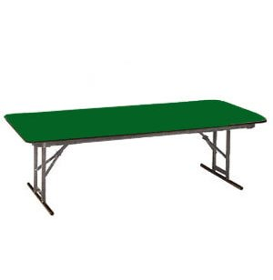 Adj. Height Colored School Folding Table - Leg Brace