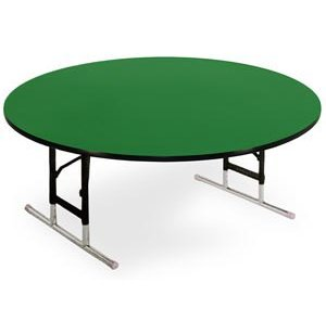Round Color Top Table Adj-Ht w/Rigidity Brace