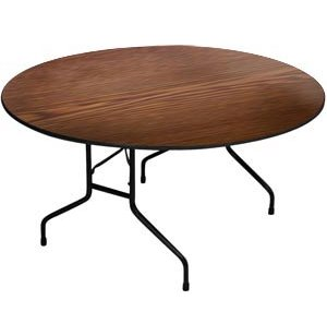 High Pressure Laminate Top Round Folding Table