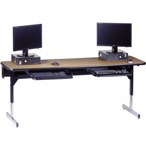 8700 Series Rectangular T-Leg Computer Table