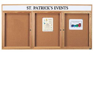 Enclosed Cork Board with Header