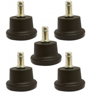 Hard Flat Glides for Academia Swivel Chairs - Set of 5