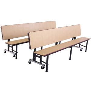 Deluxe Convertible Bench Cafeteria Table - Vinyl Edge